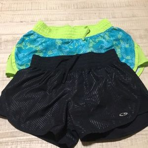 2 pair champion duo dry athletic shorts